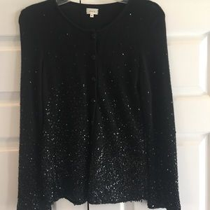 Ruth Black Cardigan with Intricate sequins
